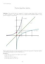 Fonction logarithme népérien - Emmanuel Morand