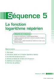 La fonction logarithme népérien - Académie en ligne
