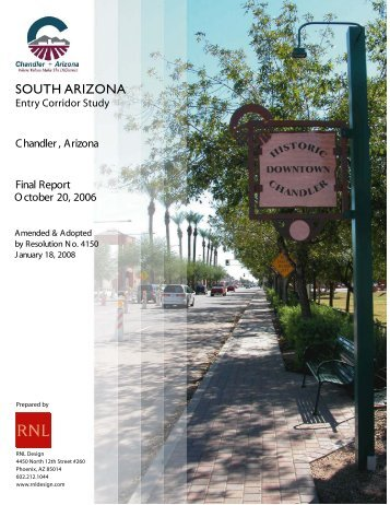 South Arizona Avenue Corridor Area Plan - City of Chandler