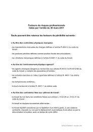 Pour connaître la liste des facteurs de risques ... - Novalis Taitbout