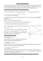 Fonction logarithme népérien - yesmath