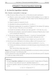 Chapitre 5 - Fonction logarithme népérien