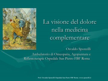 La visione del dolore nella medicina complementare - Ipasvi.tn.it
