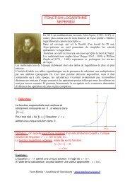 FONCTION LOGARITHME NEPERIEN - maths et tiques
