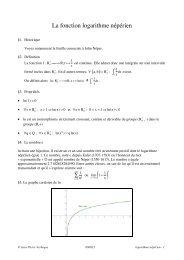 La fonction logarithme népérien - math et mac