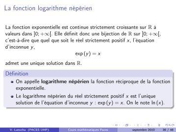 Cours Mathématiques PACES UHP-Nancy