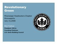 to view Rick Fedrizzi's presentation - US Green Building Council