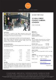 lease for sale 23 neal street covent garden london - Completely Retail