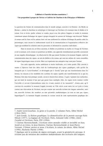 c. herrenschmidt - callirhoé - Formes symboliques
