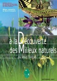 Courrier scientifique - Parc naturel régional du Vexin français