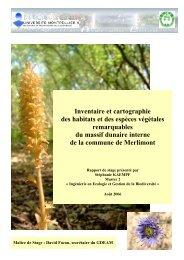 Rapport M2 KAEMPF Stephanie - Master écologie biodiversité