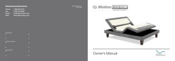 Owner's Manual - Ergomotion