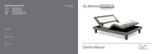 Owner's Manual - Ergomotion