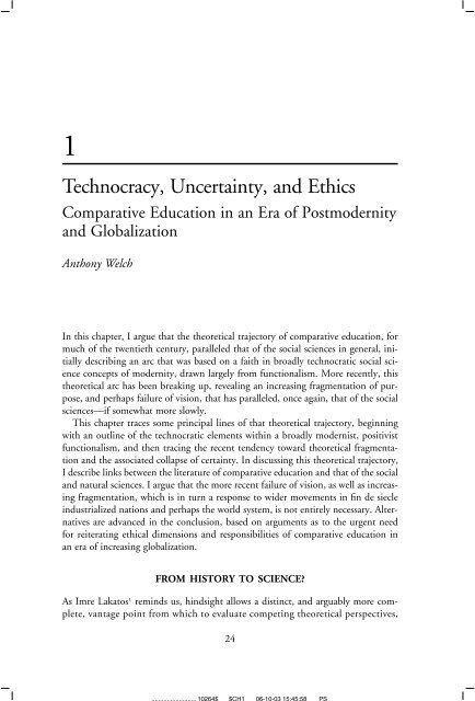 Technocracy Uncertainty And Ethics Scarecrow Press