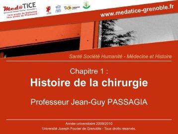 Médecine et Histoire - Pôle Santé de Grenoble - Université Joseph ...