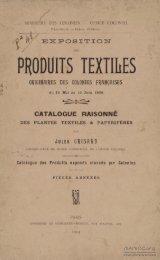 Catalogue raisonné des plantes textiles et papyrifères des ... - Manioc