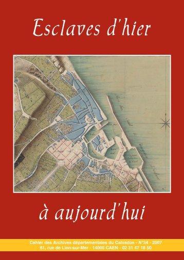 Esclaves d'hier à aujourd'hui - Conseil général du Calvados