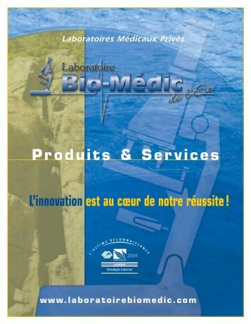 LBM Catalogue - Laboratoires Bio-Médic