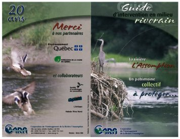 Guide d'intervention en milieu riverain - Corporation de l ...