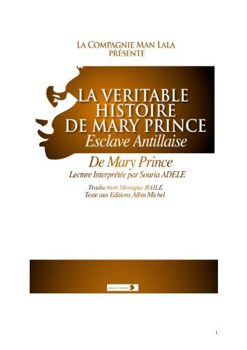 la veritable histoire de mary prince - souria adèle