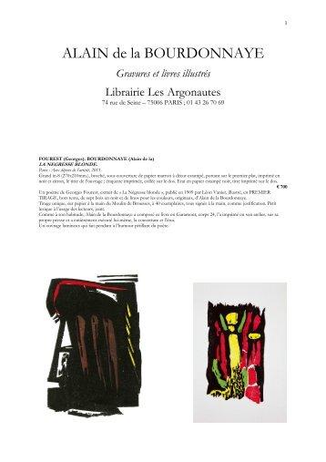 Alain de la Bourdonn.. - Librairie Les Argonautes