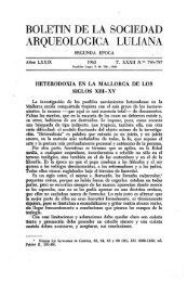 boletín de la sociedad arqueológica luliana - Biblioteca Digital de ...