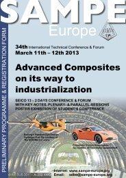 Preliminary programme & registration form - Sampe Europe