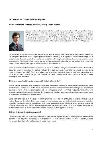 le droit de travail pdf