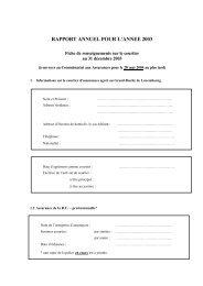 rapport annuel pour l'annee 2003 - Commissariat aux Assurances