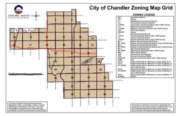 City of Chandler Zoning Map