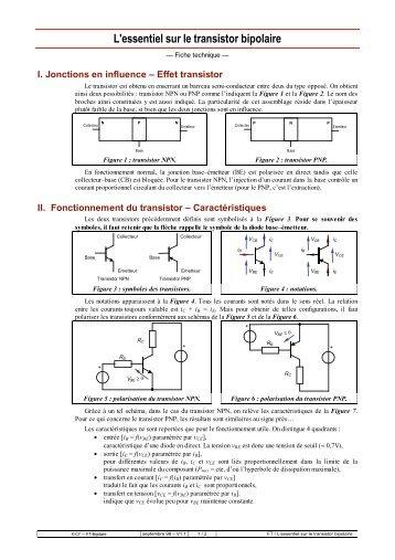 Transistor bipolaire for Le transistor