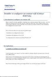 Installer et configurer un routeur wifi (Linksys ... - Nouvelle page 1