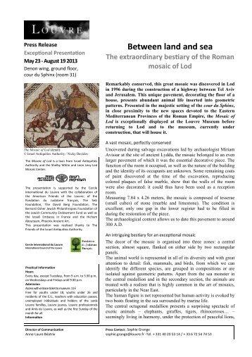CP Mosaïque de Lod ANGLAIS (Lecture seule) - Musée du Louvre