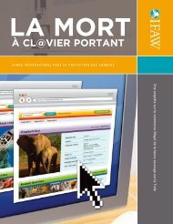 La mort@clavier portant - International Fund for Animal Welfare