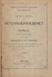 Beretning om veterinærvæsenet i Norge for året 1891.