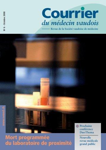 Mort programmée du laboratoire de proximité - Société Vaudoise de ...