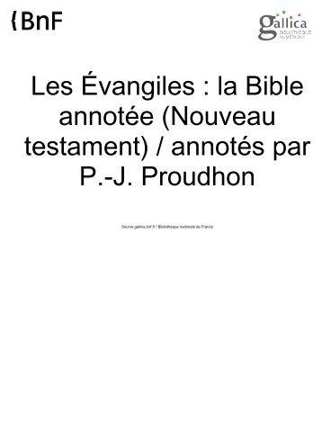 Les Évangiles : la Bible annotée - BIBLIQUEMENT VOTRE