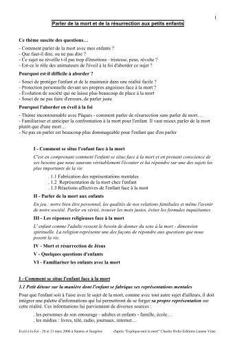 Mort et Résurrection - Diocèse La Rochelle - Saintes