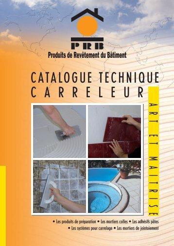 CATALOGUE TECHNIQUE C A R R E L E U R - Econology
