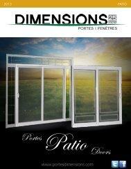 Collection portes patio - Portes Dimensions