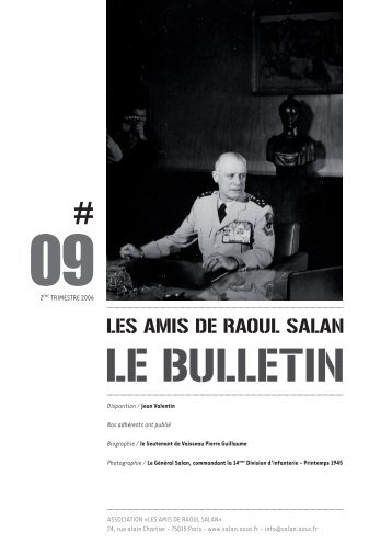 bulletin 09 / 2eme trimestre 2006 - Association des amis de Raoul ...