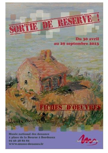 Fiches d oeuvres ' - Musée national des Douanes