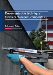 Documentation technique Mortiers chimiques ... - Debrunner Acifer