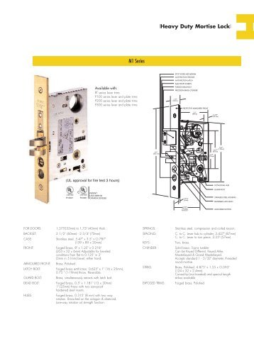 Heavy Duty Mortise Lock - Orion Hardware