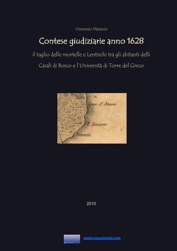 Contese giudiziarie anno 1628 Contese giudiziarie ... - Vesuvioweb