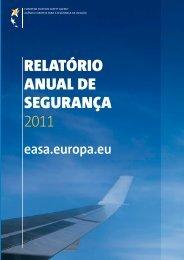 relatório anual de segurança 2011 - European Aviation Safety ...