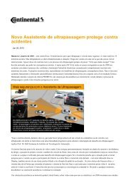 Novo Assistente de ultrapassagem protege contra acidentes