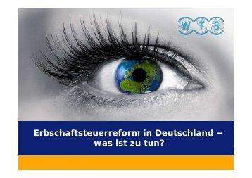 Erbschaftsteuerreform in Deutschland - WTS Aktiengesellschaft ...