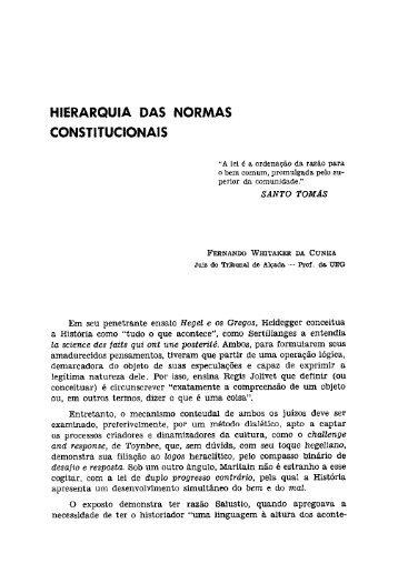 HIERARQUIA DAS NORMAS CONSTITUCIONAIS