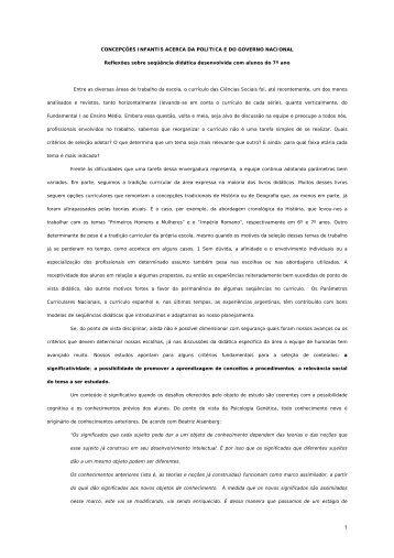 Concepções Infantis Acerca da Política e do ... - Escola da Vila